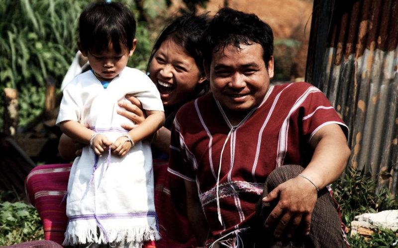 Familie Elefanten Thailand